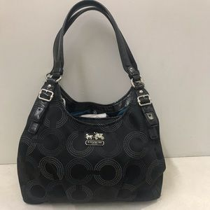 Coach Maggie Madison canvas Op Art Shoulder Bag